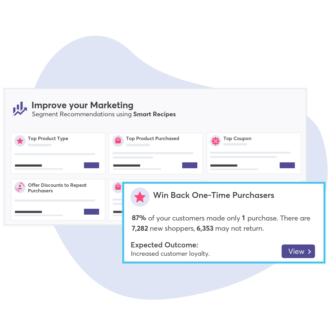 one-click segment templates to target customers with high CLV